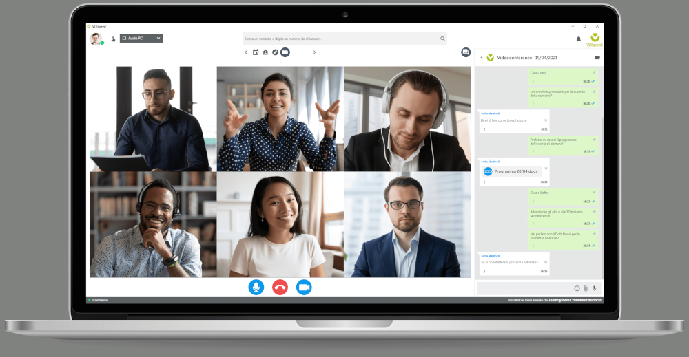 Videoconference with VOIspeed